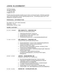 Openoffice Resume Template