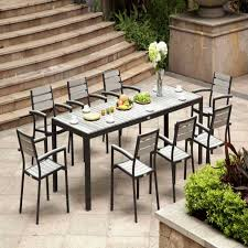 patio furniture dining sets new wooden table and chairs inspirational lush poly patio dining table image