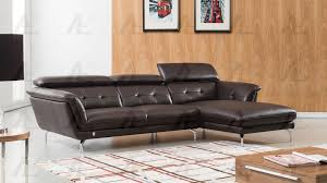 leather sectional couches. Modren Sectional EKL083 Modern 2Pcs Dark Chocolate Leather Sectional Sofa Set For Couches