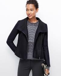 ann taylor petite felted wool moto jacket