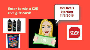 cvs deals starting 11 6 2016 opportunity to win 25 cvs gift card ignore tresemme