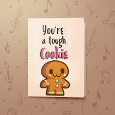 Get Well Card Tough Cookie Musical Get Well Card