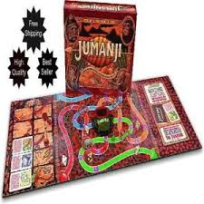 Jumanji Wooden Board Game NEW JUMANJI WOODEN Play Pieces BOX BOARD GAME Full Sized CARDINAL 13