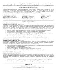 Human Resource Manager Resume Human Resources Resume Skills Examples