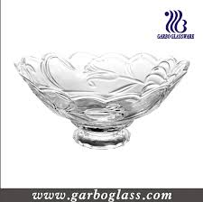 Decorative Glassware Bowls Glass Salad Bowl With Stand Large Decorative Glass Bow New 2