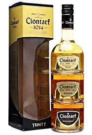 clontarf 1014 irish trinity gift set 3 x 200 ml irish whiskey