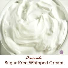 sugar free whipped cream the sugar