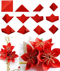 Folding Paper Flower Diy Paper Fold A 5 Pointed Origami Star Step By Step Step By
