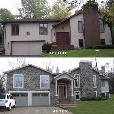 Bilevel Exterior Remodeling Bilevel Exterior Makeover - Exterior remodeling