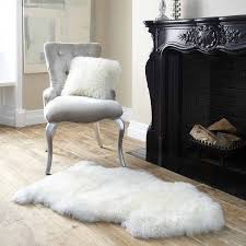 clic living room with genuine australian premium soft sheepskin