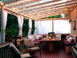 patio cover lighting hanging string lights on yard outdoor
