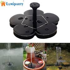 Fountain Lights And Pumps Us 12 29 30 Off Lumiparty 1 6w 8v Flower Solar Power Water Pump Floating Fountain Pump For Garden Birdbath Pool Watering Wide Irrigation Pumps In