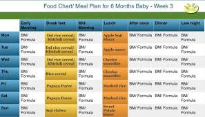 3 Months Baby Food Chart 6 Month Baby Food Chart Indian Food Chart For 6 Months Old