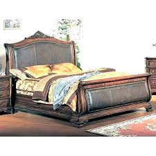 black king sleigh bed leather king sleigh bed size bed with leather headboard king side headboard