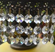 15 vintage australian crystal prism strands of 3 beads chandelier lamp