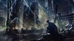 Wallpaper 4k Batman Gotham City Dark ...