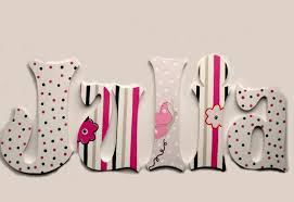 julia hand painted decorative hanging wood wall letters