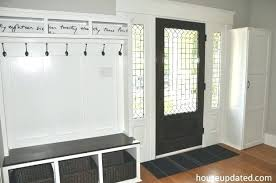 Bench With Storage And Coat Rack Entry Storage Bench Hooks Baskets More House Updated Entryway With 79