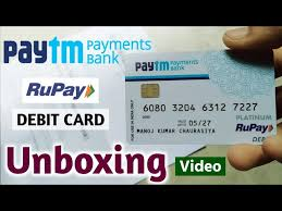 paytm payment bank atm card unboxing