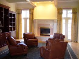 library living room mahogany built in bookcase beachley leather club chairs custom area rugs gold fringed built furniture living room