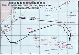 consequences of the attack on pearl harbor carrier striking task force two way route legend