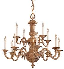 metropolitan lighting n700212 12 light classic brass chandelier undefined