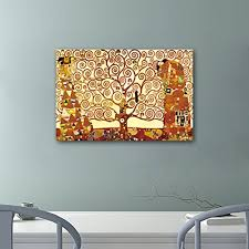 amazon wieco art tree life large canvas prints wall art gustav klimt classical oil paintings love pictures decor living room bedroom home decorations  on canvas wall art tree of life with amazon wieco art tree life large canvas prints wall art gustav