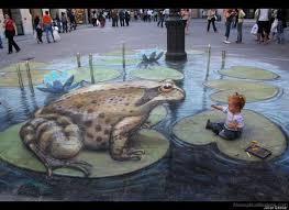 Street Artist Julian Beever 3d Sidewalk Chalk Illusions