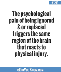 psychological pain vs physical pain