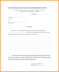 Free Affidavit Form Download Mesmerizing Signed Statement Template Zeneico