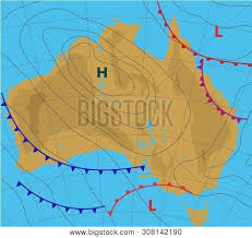 Isobar Chart Weather Forecast Map Vector Photo Free Trial Bigstock