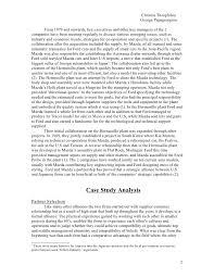 mazda ford case study international business essay 1 2
