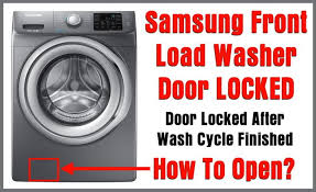 samsung front load washer door won t open door locked after wash cycle finished