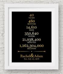40th anniversary decorations 1st wedding anniversary gift beautiful 40th wedding anniversary gift ideas for her