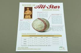 Baseball Brochure Template 25 Superb Examples Of Flyer Designs Top Design Magazine