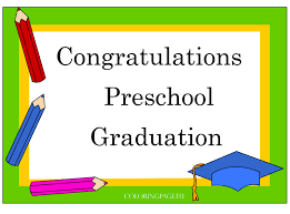 Preschool Graduation Certificate Free Coloring Page