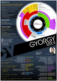 Graphical CV by Gyrgy Szcs, via Behance