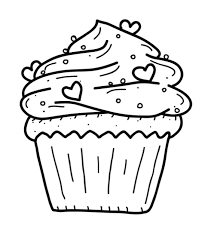 Cupcake coloring pages for adults. Icolor Cupcakes Cupcake With Sprinkles Tiny Hearts 564 639 Cupcake Coloring Pages Birthday Coloring Pages Free Coloring Pages
