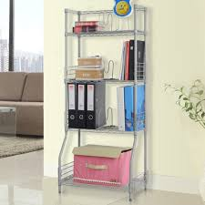 cheap office shelving. LANGRIA 4-Tier Wire Bookcase Metal Shelving For Home Organisation, Office Storage, Max Capacity 44lbs Per Shelf (Silver): Amazon.co.uk: Kitchen \u0026 Cheap