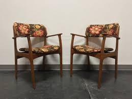 erik buch for mobler model 49 teak danish mid century modern arm chairs pair 3