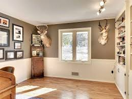 office wainscoting ideas. traditional home office with crown molding flush light wainscoting hardwood floors paintable ideas zillow