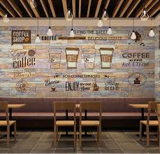 coffee shop art. Unique Shop 3D Mural Photo Wallpaper Art Wall Decor Personalize Large Murals Restaurant Coffee  Shop Store Backside Paper Custom Size In Wallpapers From Home  Throughout