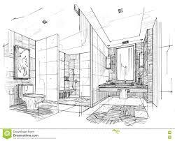 bathroom interior design sketches.  Interior Sketch Interior Perspective Toilet U0026 Bathroom Black And Bathroom Design Sketches R