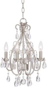 brushed nickel crystal chandelier awesome on dining room with regard regina brushed nickel 28 wide