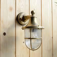 greenwich outdoor wall lantern light solid brass
