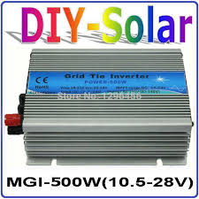 mgi 500w dc10 5 28v grid tie inverter for solar panel 18v 36 cells 90 140v or 180 260vac pure sine wave power inverter 500w 18v 300 watt inverter 300 watt