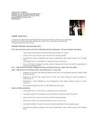 Cook Resume Examples Simple Chef Duties And Responsibilities Cook Resumes Duties Sushi Chef