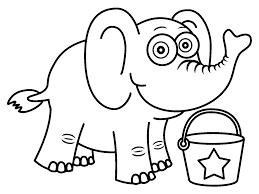 Printable Funny Elephant