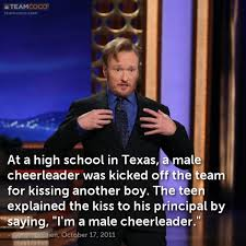 Joke: At a high school in Texas, a male cheerleader was ... via Relatably.com