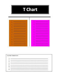 Word T-Chart Template | Free Word Templates